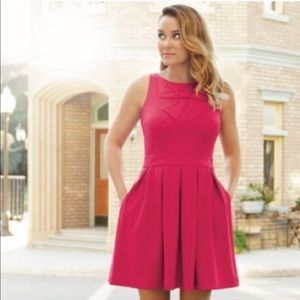 Lauren Conrad hot pink Bow dress with pockets